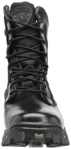 Rocky Hommes Alpha Force 8 Pouces Côté Zip Travail Boot, Noir, 6,5 M Us