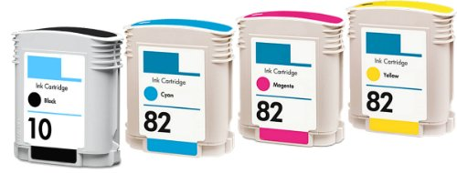 HouseOfToners Remanufactured Toner Cartridge Replacement for HP 10 ( Black,Cyan,Magenta,Yellow , 4-Pack )