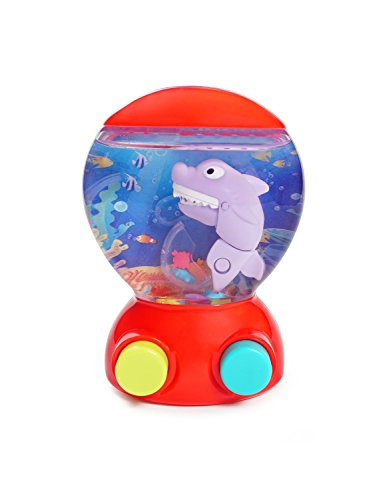 - KONIG KIDS Handheld Shark Water Game Machine Ocean World Learning Toy for Toddlers, Red
