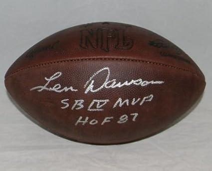 Len Dawson Autographed Kansas City Chiefs Wilson Duke Throwback Football 39893eb88