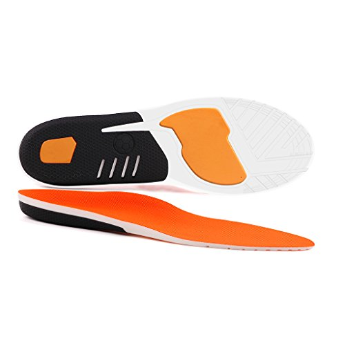 Shoes Womens Flat Shoes (Plantar Fasciitis Inserts, Hallux Rigidus Orthotic Shoes Insoles for Men & Women, Full Length Sports Insoles with Cushioning Arch Support for Running, Hiking, Foot Pain, Flat Feet (Women 5-9.5))
