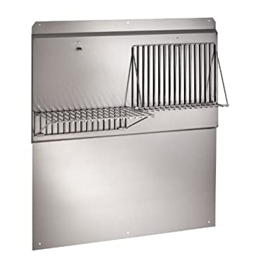 Broan 36 in. Backsplash with Shelves in Stainless Steel for Range Hood, Silver (RMP3604)