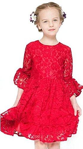 iPretty Vestido de fiesta para niña, para invierno y otoñ ...