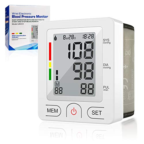 [2019 New] Blood Pressure Monitor, Automatic Digital Wrist Blood Pressure Cuff Monitor Clinically Validated Accurate & Fast Reading Sphygmomanometer with FDA Approved (Best Automatic Wrist Blood Pressure Monitor)
