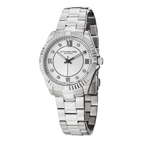 Stuhrling Original Women's 399L.22112 Symphony Lady Nautic Analog Display Swiss Quartz Silver Watch