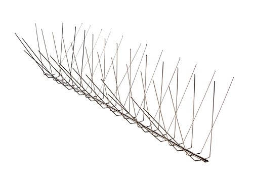 Nixalite Pigeon Spike Stainless Steel Bird Spikes (12 Ft, 6-2 Ft. Strips) (Best Way To Get Rid Of Birds)