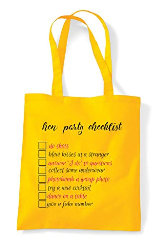 Own Do Add Party Dares Your Tote Cheeky Bag Customised Personalised Checklist White Hen Shopper IWx0HqRzz