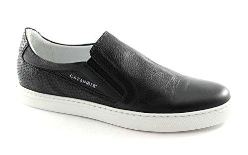 CafèNoir Cafè Noir PG122 Nero Scarpe Uomo Slip On Sneakers Pelle Elastici nero