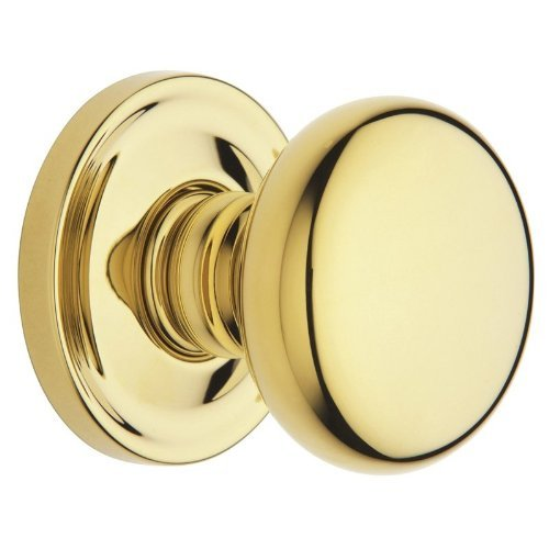 Baldwin 5015.IDM Single Dummy Knob with 5048 Rose and Concealed Screws, Lifetime Polished Brass