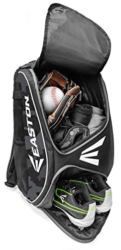 EASTON E110BP Bat & Equipment Backpack Bag | Baseball Softball | 2019 | Blurple | 2 Bat Sleeves | Smart Gear Storage | Vented Shoe Pocket | Rubberized Zipper Pulls | Fence Hook by Easton (Image #2)