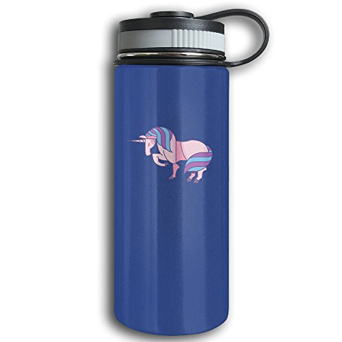 Unicorn Remix Stainless Steel Insulated Sports Water Bottle With Wide Mouth - Double Walled Sport Vacuum Flask For Hot And Cold Beverages, 12-Ounce