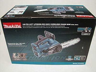 """Morocca Makita XCU02Z 18V X2 (36V) LXT Lithium Ion Cordless 12"""" Chainsaw (Tool Only) Nib"""