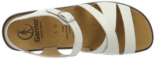 Women's Weite Ankle 0200 Ganter 16 Strap G Weiß White Weiß Monica qgA5t