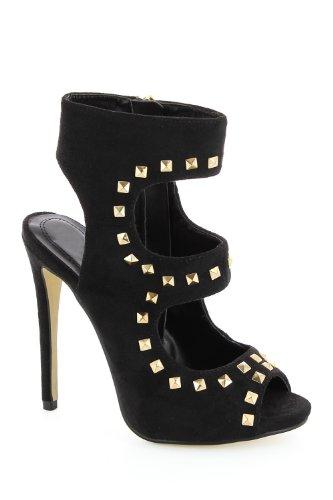 Go Tendance - Sandalias de vestir para mujer negro - negro