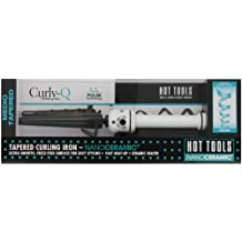 Hot Tools HTBW1851 Medium Tapered Curling Iron, Black/White, 1/2 to 1-Inch