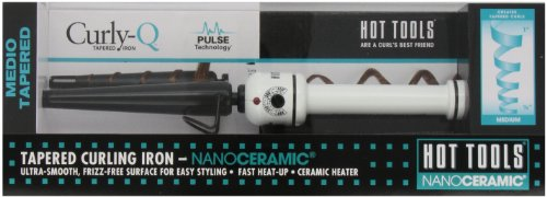 HOT TOOLS HTBW1851 Medium Tapered Curling Iron, Black/White, 1/2 to 1 Inch -  HOT11851