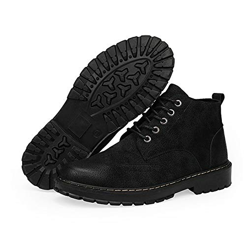 Pour Et Emballé Hommes Chenjuan Noir Casual Bottines Mode Bottes Les Confortable Chaussures Haut gYWSSFUf