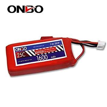 Onbo Power - Batería Lipo 7.4v 1600mAh 25C 2S Conector T ...