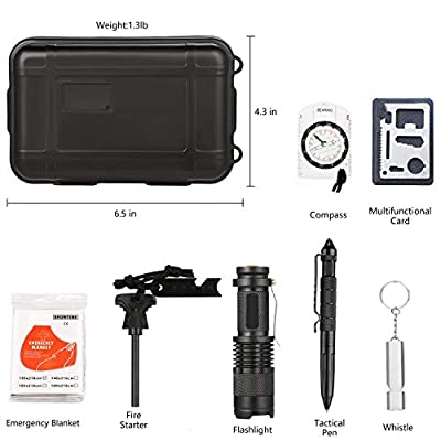 SUNSMILES Outdoor Pocket EDC Tool Emergency Survival Kit Hunting Accessory - Birthday Fathers Day Dad Boss Graduation Gifts for Him Men Friends