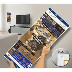 That's My Ticket 1995 World Series Mega Ticket Wall Decor, Atlanta Braves