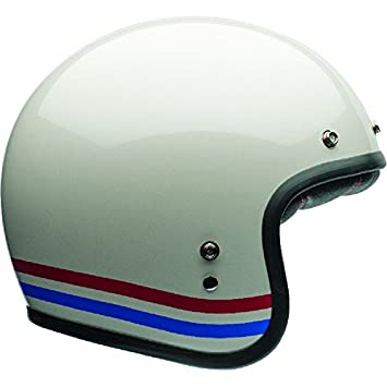 Bell 7070157 Custom 500 DLX Stripes Casco, Pearl Blanco, Talla M