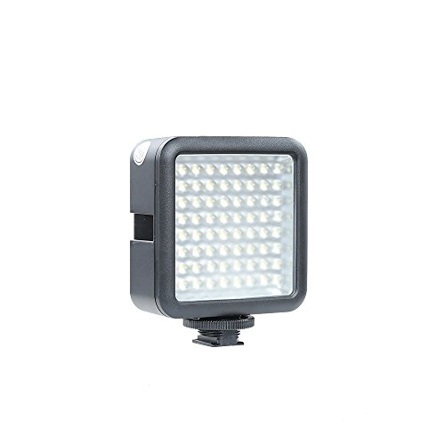 Godox Cn-64 Interlocking Continuous Dimmable On Camera Led Panel Light Lighting for Vedio Camcorder, DSLR Camera like Caon,Nikon, Sony, Panasonic,Olympus,Fuji Camera by Godox