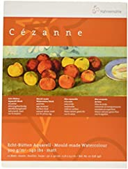 Cezanne 20643 Block Acuarela Matt 300 g, 30 x 40 con 10 Hojas