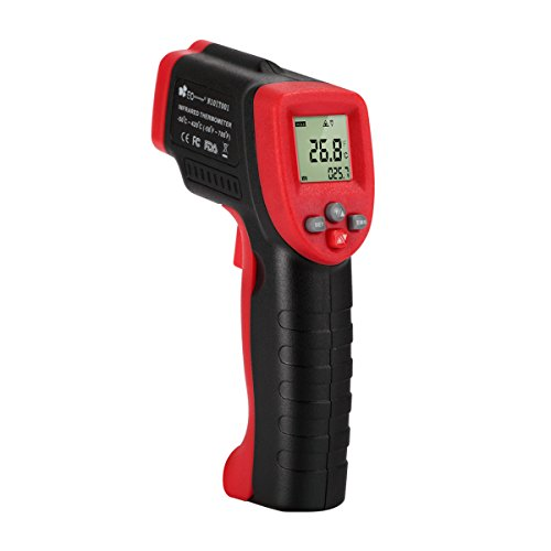 Infrared Thermometer -58℉ to 788℉, EC Technology Non-contact Laser Infrared Digital Thermometer with 12:1 Spot Ratio, AAA battery, Measuring Range -50℃ to 420℃ for Cooking, Barbecuing and More