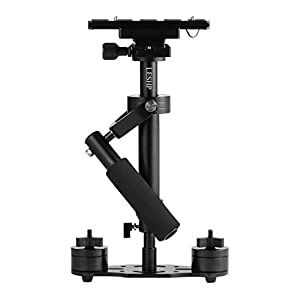 "YKS Handheld Camera Stabilizer,Mini Handheld Stabilizer S40 with Quick Release 1/4"" ScrewPlate for Camera Video DV DSLR Nikon Canon, Sony, Panasonic (Black)"