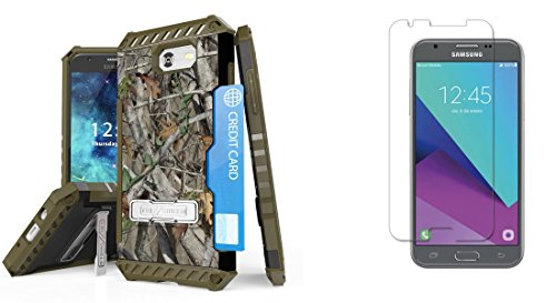 Crystal Forest Loop - Samsung Galaxy Sol 2 - Accessory Bundle: Tri-Shield [Military Grade] Rugged Case - Real Tree Camo, Atom LED and Tempered Glass Screen Protector