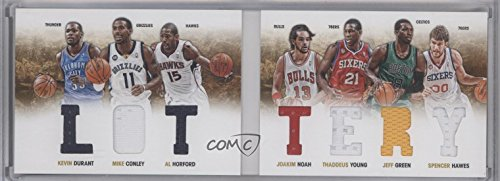Joakim Noah Card (Mike Conley; Al Horford; Jeff Green; Joakim Noah; Kevin Durant; Spencer Hawes; Thaddeus Young #85/199 (Basketball Card) 2012-13 Panini Preferred - Lottery Material Booklet #2)