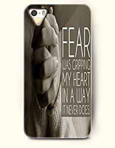 OOFIT iPhone 4/4s Case Fear Was Cripping My Heart In A Way It Never Does Hand In Hand