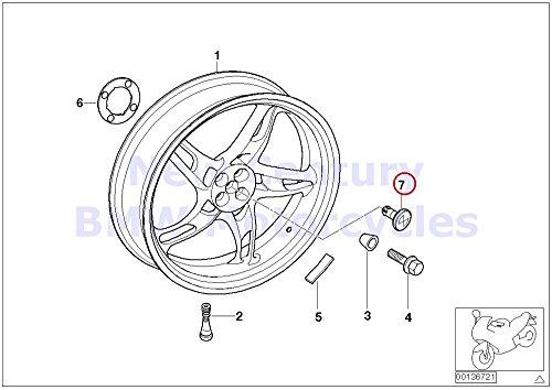 Bmw Motorcycle Wheels - BMW Genuine Motorcycle Cast Rear Wheel Cap R1100S R1150RS R1150RT R1150R R1150R Rockster