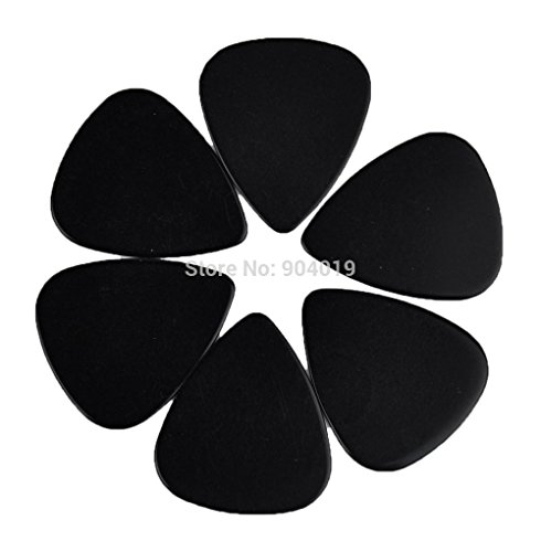 Wall of Dragon Lots of 100 pcs New Heavy 0.96mm Blank Guitar Picks Plectrums Celluloid Solid Black