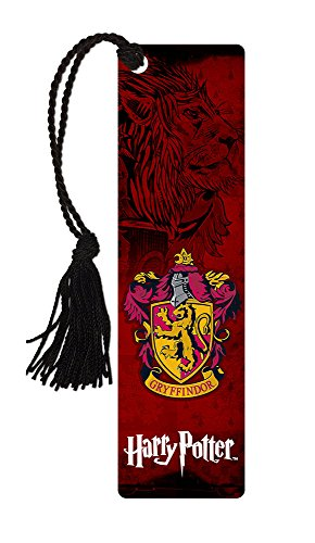 Harry Potter Bookmark - Gryffindor House - with tassel