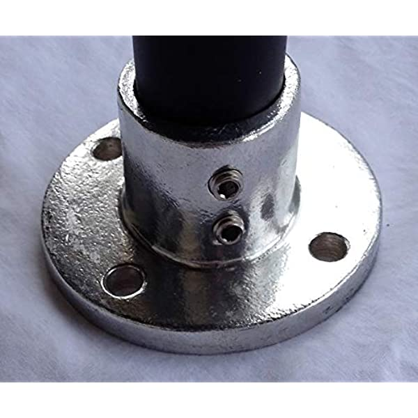 Malleable Iron Pipe Rail Fitting 1-1//2 Inch Pipe Kee 6 Pack