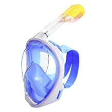 LUOOV 180 Degree View Full Face Easybreath Snorkel Mask ,Sports Snorkeling Mask,Dive Mask