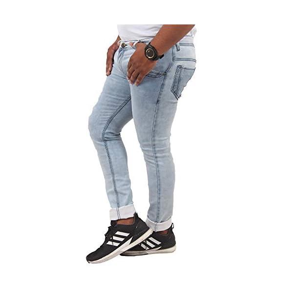0a56268be9 Vareny Men's Slim Fit Denim Jeans Stretchable Designer Light Blue ...