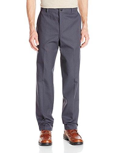 Red Kap Men's Stain Resistant, Flat Front Work Pants, Charcoal, 32W x 34L