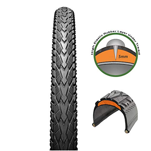 ChaoYang City Bike Tire Trekking Commuter Bicycle Tires Folding Aramid Bead Flat Protection with Anti-Puncture (700x32C)