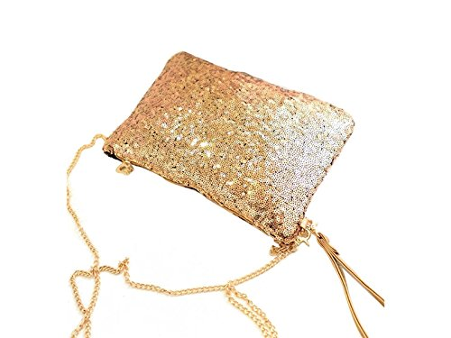 Handbag Sun Chain Bag Vintage Glower Envelope Party Sequined Evening Clutch ZHAzq