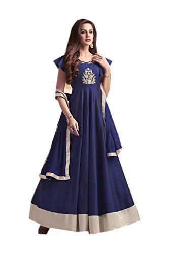 itsindiancrafty Indian Women Designer Partywear Ethnic Traditonal Navy Blue Anarkali Salwar Kameez by itsindiancrafty
