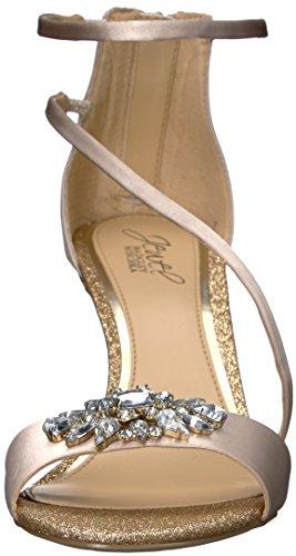 Jewel Badgley Mischka Women's Leighton Heeled Sandal Champagne c1pWX5