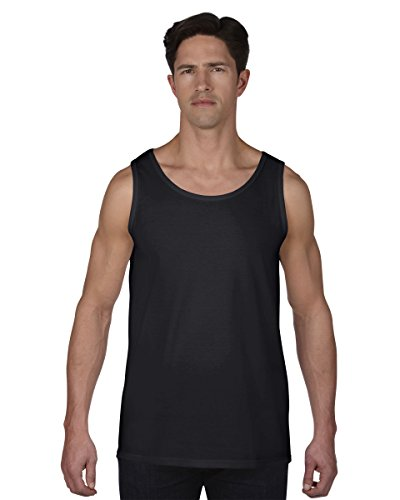 Anvil Mens Fashion Basic Tank Top / Sleeveless Vest (XL) (Black) (Anvil Top Mens Tank)