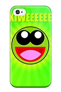 Best New Premium Kiwi Smiley Skin Case Cover Excellent Fitted For Iphone 4/4s