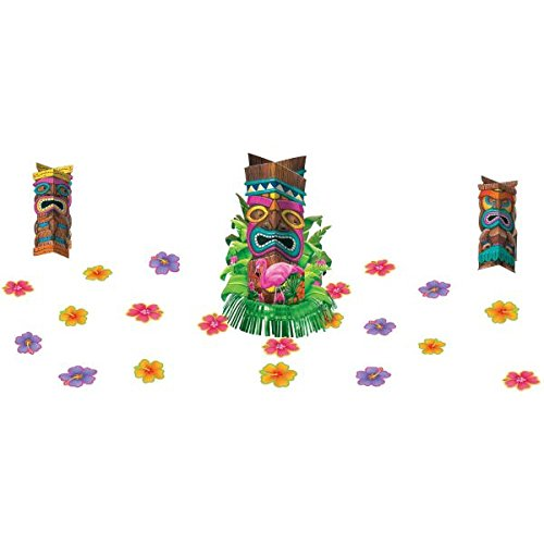 Amscan sun sational luau party tropical tiki table