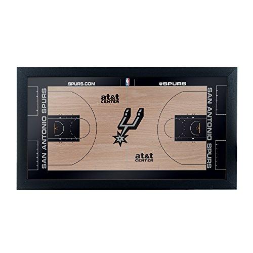 Trademark Gameroom San Antonio Spurs Official NBA Court Framed Plaque