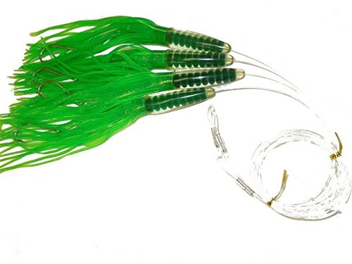 EAT MY TACKLE Green Machine Fully Rigged Trolling Lures 4 Pack