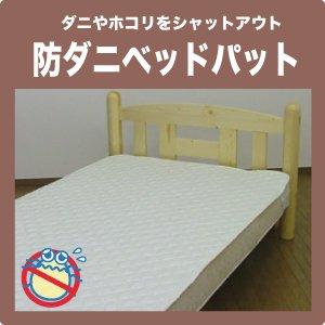 スリーププラス 防ダニ ベッドパッド ダブル140×200cm オリジナル高密度生地使用 B00IJ758IK アイボリー