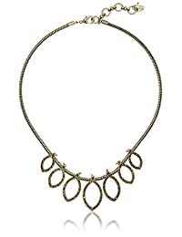 """Lucky Brand Gold Pave Collar Necklace, 16.5"""" +2.5"""" Extender"""